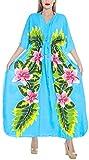 LA LEELA Rayon Printed Sleep Dress Girls OSFM 12-20 [L-2X] Turquoise_3604