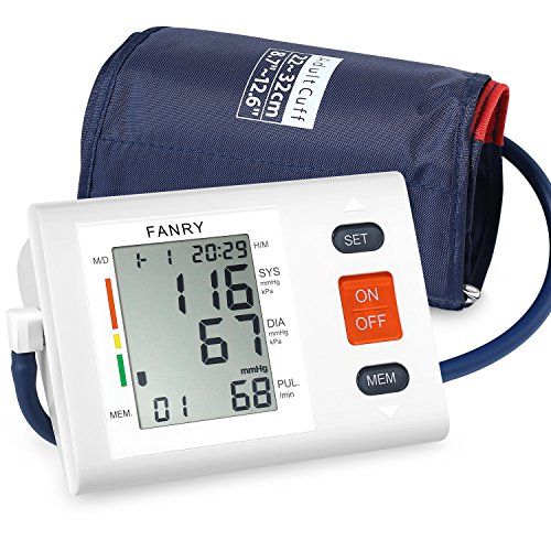 FANRY Automatic Upper Arm Blood Pressure Monitor, Batteries Included, FDA...