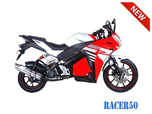 SmartDealsNow 49cc Sports Bike Racer50 Automatic Bike Racer 50 Motorcycle by TAO (Image #1)