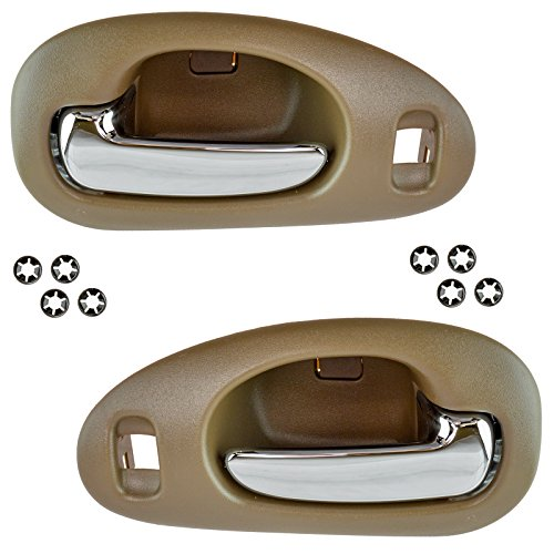 Front Interior Door Handle Pair LH & RH Set Chrome & Beige for Concord LHS 300M