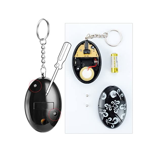 Mengde WCH8211 120 db Emergency Personal Alarm Keychain for Women, Kids, Girls, Superior, Explorer Self Defense Electronic Device Bag Decoration, 2 Piece