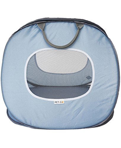 PET-TOGO-Ultra-Light-Pet-Carrier-Soft-Sided-And-Foldable-Travel-Carrier-With-Front-And-Top-Openings-For-Cats-And-Small-Dogs-Blue-And-White-Large-Size