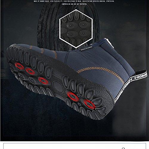 Moodeng Stivali Da Neve Per Donna E Uomo Impermeabile Antiscivolo Caldo Pizzo Su Scarpe Di Cotone Nero Esterno