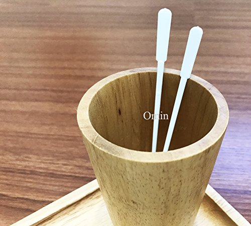 300 Count Omin White Plastic Coffee Stirrers, Tea Stirrer Spoon, Stir Swizzle Sticks, Bar Tool 5 Inch by Omin ( Home Craft Kitchen ) (Image #4)