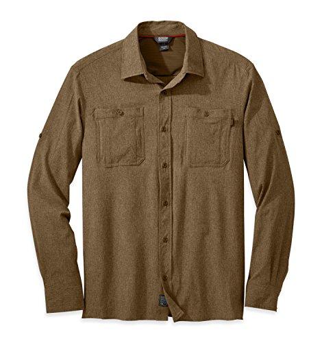 Outdoor Research Men's Wayward L/S Shirt, Coyote, X-Large