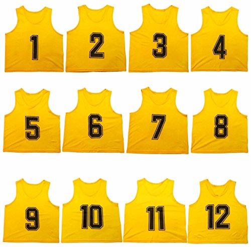 Oso Athletics Set of 12 Premium Mesh Numbered Scrimmage V...