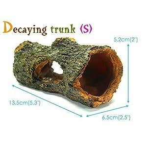"Decaying trunk 5.3"" Aquarium Ornament Driftwood - Decoration fish tank Tree Wood 6"