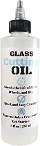 Premium Glass Cutting Oil (8 oz) Specially Formulated for Use with Any Glass Cutter Tool - Glass Cutter Oil for Glass Drill Bit, Mirror Cutter, Tile Cutter & Glass Cutting Tools