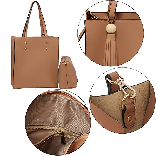 Women Designer Design Anna Pouch Bag Handbag Fashion Branded Bag Nude With Grace Shoulder 1 With Look Tassel Ladies Tote New Free XUzq1wppx