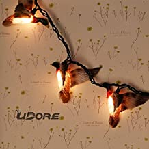 LIDORE 10 Counts Christmas Tree Lights Flying Mallard Duck Decoration Lights. Warm white Holiday party Lights