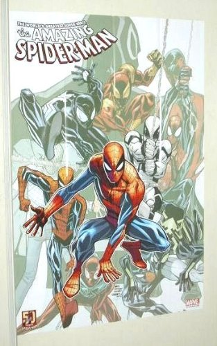 The Amazing Spider-Man Multi-Costume 36 by 24 inch Marvel Universe comic book shop promotional promo poster (3 by 2 feet)