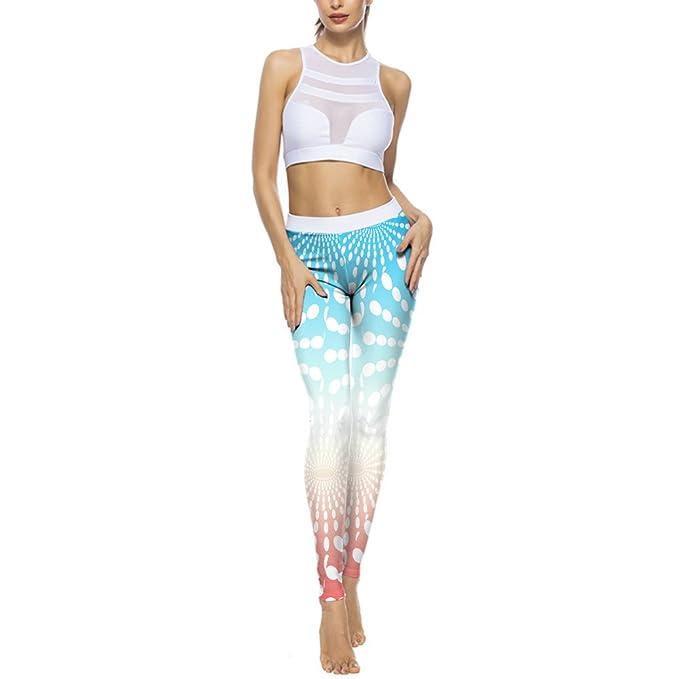 💗Weant💗Mallas Deportivas Mujer Pantalones Yoga Impresión ...