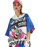 Cool Girls Trendy Womens Sport Zip Hoodie Midge City Trashes Printed Hip Hop Street Dance
