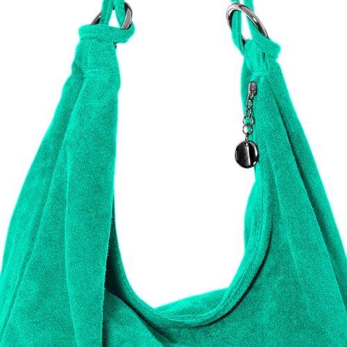 TL617 en femme à CASPAR Sac turquoise main DAIM HdCqxwxnUI