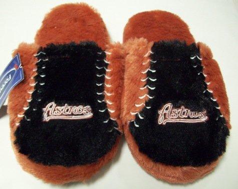 Houston Astros MLB Plush Slide Slippers