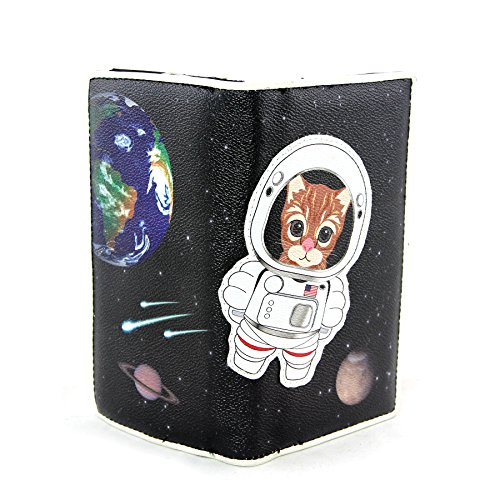Kitty Astronaut in Space Wallet in Vinyl Material