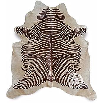 Amazon Com Off White Zebra Cowhide Rug Brazilian Hair