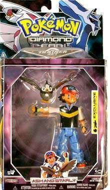 Pokemon Diamond & Pearl Exclusive Deluxe Action Figure Trainer Set Ash & Starly