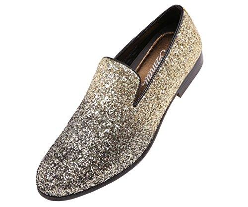 Amali Mens Faded Glitter Metallic Nightclub Dress Shoe : Style Noble