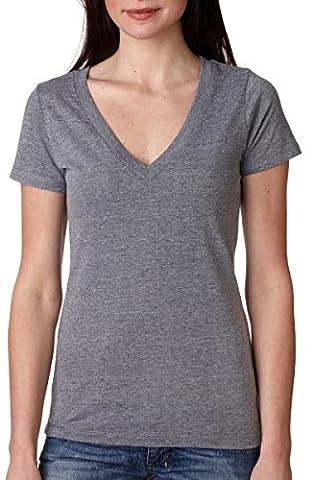 Next Level Tri-Blend Deep V Jersey T-Shirt_premium heather_2XL (Pack of 3) (Next Level Tri Blend V)