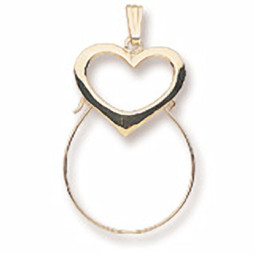 Charms for Bracelets and Necklaces Heart Charmholder
