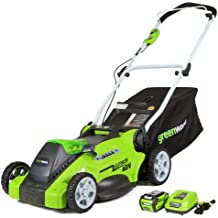 Greenworks 16-Inch 40V Cordless Lawn Mower, 4.0 AH Battery Included 25322