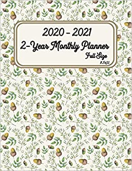 Amazon.com: 2020 - 2021 Full Size 2-Year Monthly Planner 8.5 ...