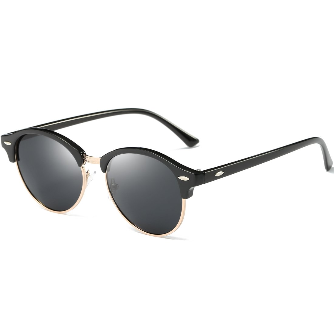 Joopin Semi Rimless Polarized Sunglasses Women Men Retro Brand Sun Glasses as the pictures) H9041-09