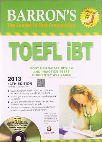 Ebook 13th edition ibt barrons toefl