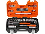 Bahco S330 Socket Set 34 Piece 1/4 and 3/8 Square D