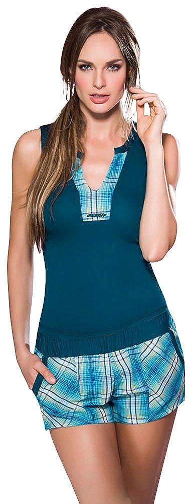 Adriana Arango Pijama de Dos Piezas Short Para Mujer 100% Algodón S: Amazon.es: Ropa y accesorios