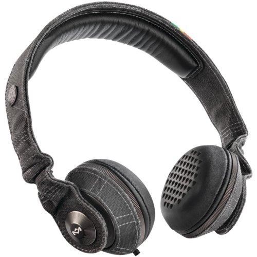 House of Marley EM-JH053-MI Marley Riddim Midnight On-Ear Headphones (House Of Marley Riddim On Ear Headphones)