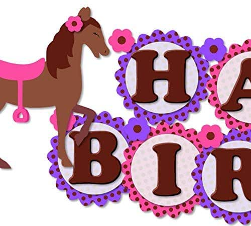 Party Decorations Personalised ANY NAME Horse Pony 18th Birthday Banner x 2