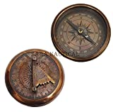 Sara Nautical Nautical Copper Antique Maritime Sundial Compass Gilbert Sundial Vintage Replica