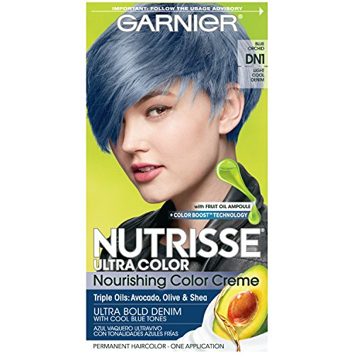 Garnier Nutrisse Ultra Color Nourishing Hair Color Creme, DN1 Light Cool Denim (Packaging May Vary)