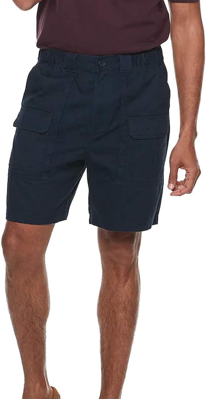 Croft & Barrow Men's Classic-Fit Side-Elastic 7.5-inch Cargo Shorts