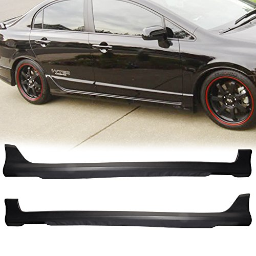 - 06-11 Honda Civic 4dr Sedan Sport Style Add-On Poly-Urethane Side Skirt Bodykit