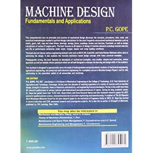Machine Design: Fundamentals and Applications