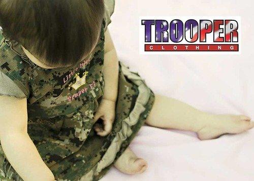 Little Miss Semper Fi Dress for Baby Digital Woodland Camo
