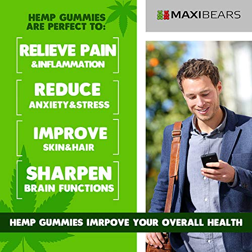 51u6wTo CNL - Hemp Gummies - 20000 MG - 333 MG per Gummy - Pain, Stress, Insomnia & Anxiety Relief - Made in USA - Tasty & Relaxing Herbal Gummies - Premium Extract - Mood & Immune Support