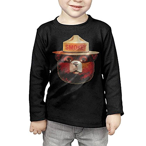 CAYCGH Child Kids Smokey Bear Head Long Seelve Baseball Jersey T-Shirt Tee 3 Toddler (Smokey The Bear Costume)