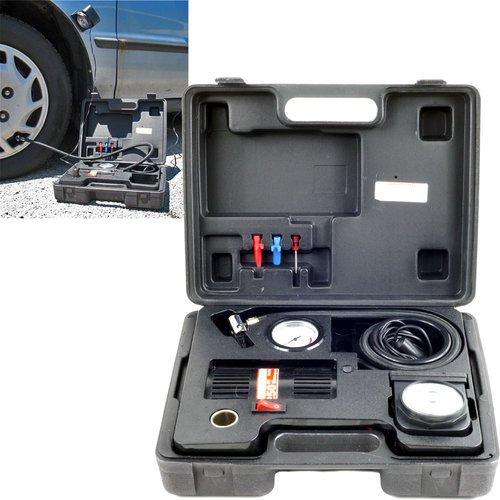 [해외]상표 250 PSI 휴대용 공기 압축기 키트 (라이트 및 26.5 에어 호스 포함)/Trademark 250 PSI Portable Air Compressor Kit with Light and 26.5  Air Hos