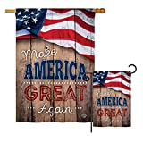 Ornament Collection S191189-BO Proud to Make America Great Again Americana Patriotic Impressions Decorative Vertical House 28″ X 40″ Garden 13″ X 18.5″ Double Sided Flags Set Printed In USA MultiColor