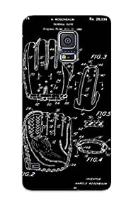 Ellent Design Baseball Glove Patent 1974 Case Cover For Galaxy S5 For New Year's Day's Gift