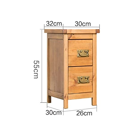 Amazon.com: LWWOZL Bedside Table Dormitorio De Madera Maciza ...