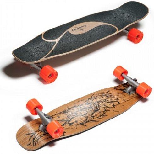 Loaded Poke Complete Longboard Skateboard With Carver Trucks Orangatang Wheels by Loaded Boards