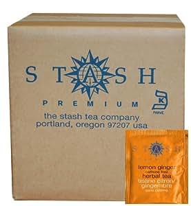 Stash Tea Lemon Ginger Herbal Tea, 100 Count Box of Tea Bags in Foil (packaging may vary)