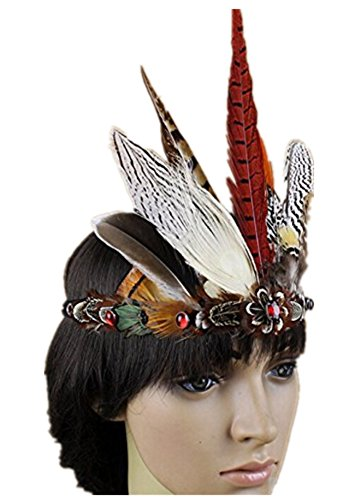 Celebration Party Show colorful Western Fashion Indian Costume Native American Feather Headdress Chief Hat -