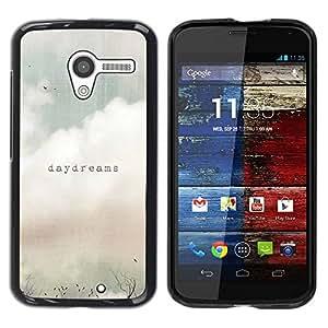 Paccase / SLIM PC / Aliminium Casa Carcasa Funda Case Cover para - Daydreams Vignette Quote Text Summer Field - Motorola Moto X 1 1st GEN I XT1058 XT1053 XT1052 XT1056 XT1060 XT1055