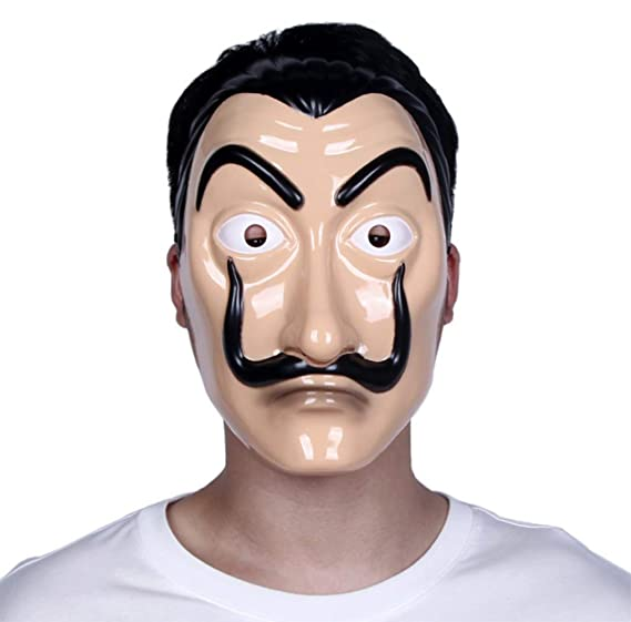 Gmasking Salvador Dali La Casa De Papel Costume Halloween Mask